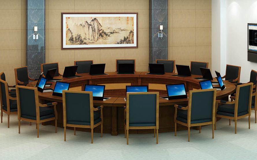 伟通 会议室办公家具定制案例