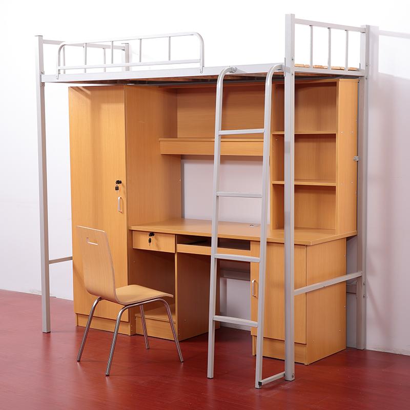 公寓床带衣柜和书桌