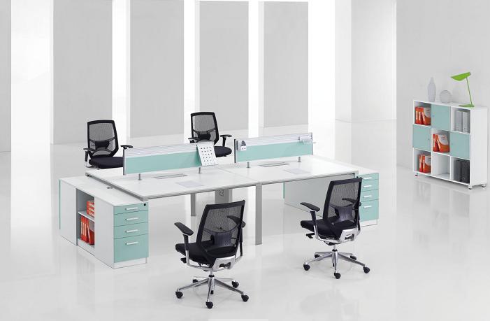 四人组合员工办公桌-11