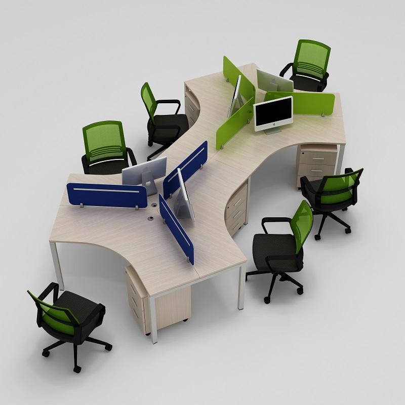 异形办公桌椅定做 员工位办公桌 南京伟通办公家具定制