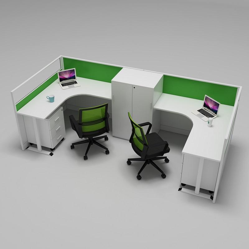 办公屏风位带高柜办公桌南京伟通办公家具厂定制