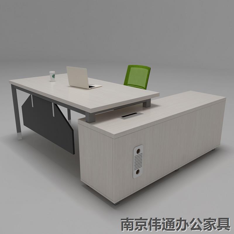 南京办公家具厂  现代经理办公桌 南京伟通办公家桌椅厂家