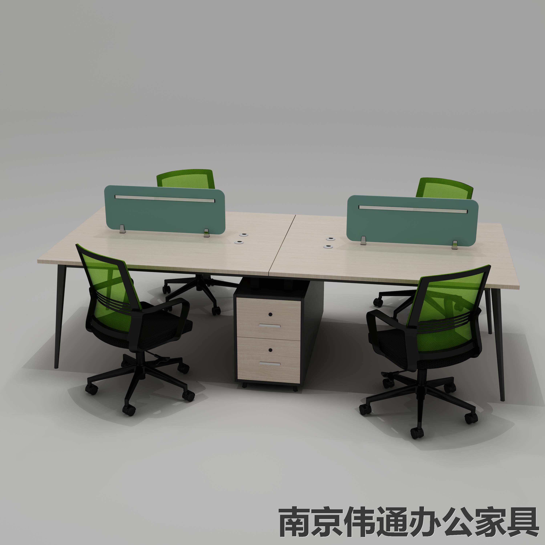 南京办公家具职员办公桌 四人位办公桌厂家 南京伟通厂家直销