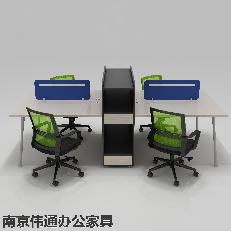 四人位办公桌屏风 员工位办公桌南京伟通办公家具厂家直销